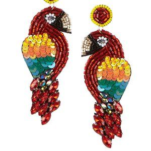 Anna & Ava Beaded Parrot Statement Earrings.NWT!